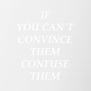 convince convincing wise intellectually ni - Contrasting Mug