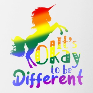 LGBT - It's okay to be different - Contrasting Mug