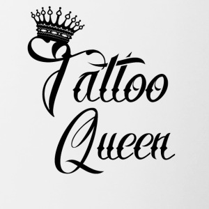 geschenk queen needle tattoo taetowiert addicted - Tasse zweifarbig