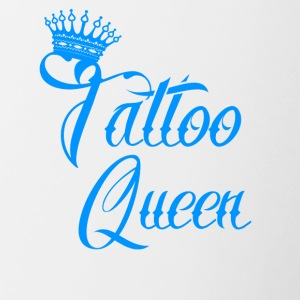 gift queen needle tattooed tattoo ink - Contrasting Mug
