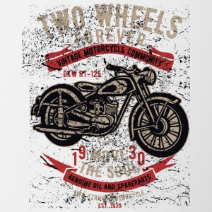 Motorcycle Chopper Biker Highway Motor Kerstmis - Mok tweekleurig
