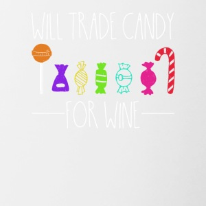 Exchange sweets for wine - Contrasting Mug