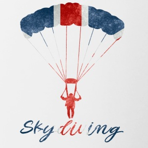 Skydiving #UK - Tasse zweifarbig