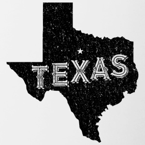 Texas Vintage Motto en Bijnaam - Mok tweekleurig