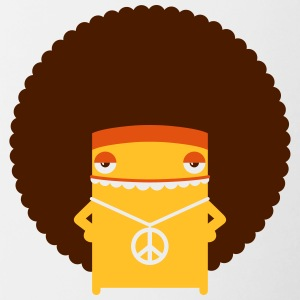 A Hippie With An Afro - Contrasting Mug