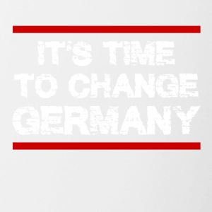 It 's Time to Change Germany - Contrasting Mug