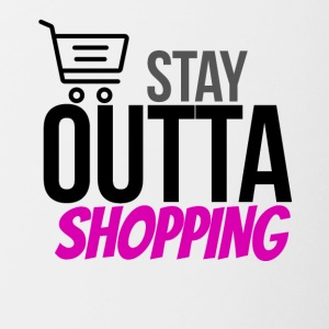 Stay outta shopping please - Contrasting Mug