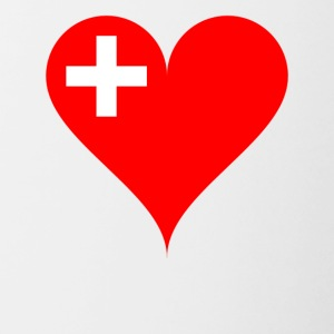 SWITZERLAND HEART T-SHIRT - Contrasting Mug