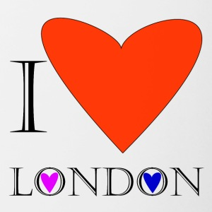 I Love London 1A - Tasse bicolore