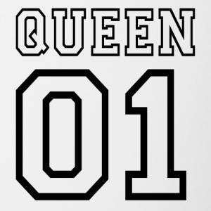 Queen 01 - Mok tweekleurig