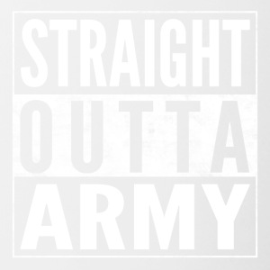 Straight Outta ARMY Bundeswehr chemise drôle - Tasse bicolore