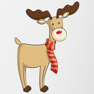 Sweet cartoon reindeer - Contrasting Mug