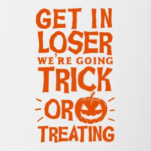 Halloween Krijg in Loser gaan we Trick or Treat - Mok tweekleurig