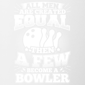 Funny Bowling Bowler Shirt All Men Equal - Contrasting Mug