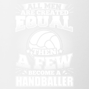 Funny Handball Handball Shirt All Men Equal - Contrasting Mug