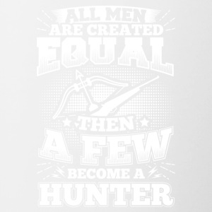 Funny Hunter Hunting Shirt All Men Equal - Contrasting Mug