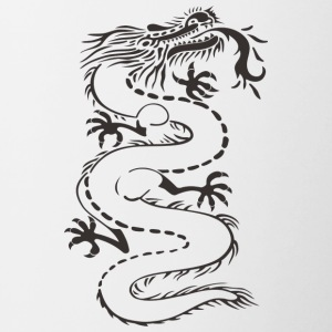 Dragon - uncolored - Tasse zweifarbig