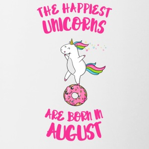 August Unicorn unicorn idea birthday gift - Contrasting Mug