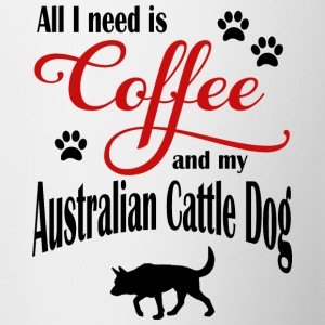 Australien Cattle Dog Coffee - Tvåfärgad mugg