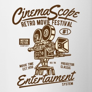 RETRO MOVIE FESTIVAL - Cinema og film shirt - Tofarvet krus