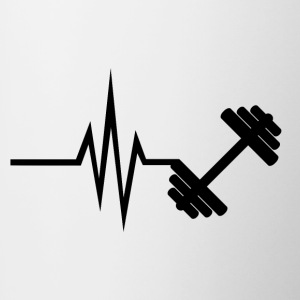 My heart beats for fitness - sports training - Contrasting Mug