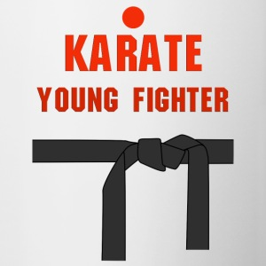 Karate young fighter - Kubek dwukolorowy