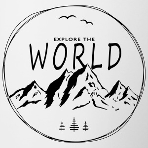 Explore the world - Tasse zweifarbig