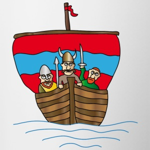 Vikings | Viking Ship | boat | zeilschip - Mok tweekleurig