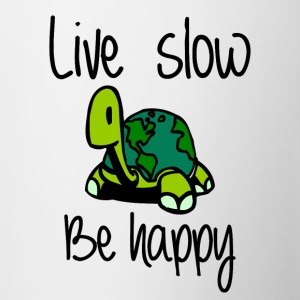Live slow be happy - Contrasting Mug