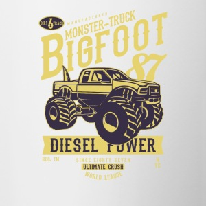 Bigfoot Monster-Truck. The ultimate Crush. - Tasse zweifarbig