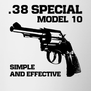 38 Speciaal model 10 revolver fan t-shirt - Mok tweekleurig