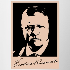 Theodore Teddy Roosevelt president tribute - Contrasting Mug