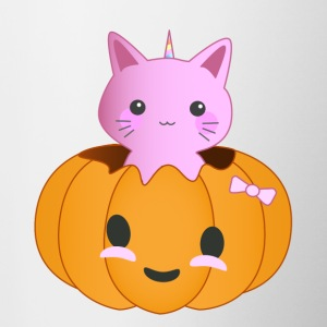 Pumpkin Kitty - Kubek dwukolorowy