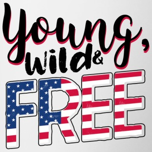 Young, wild and free - USA, America, travel, travel - Contrasting Mug