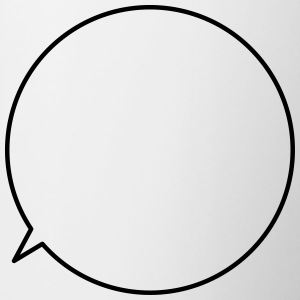 Speech Bubble Customizable text - Contrasting Mug