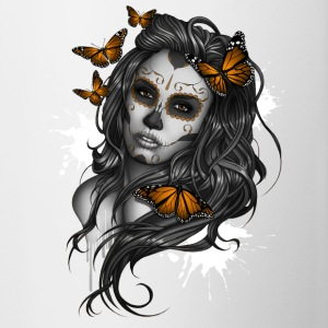 Day of the Dead Sugar Skull Girl - Contrasting Mug