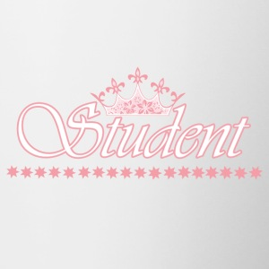 Student crown - ROSE-WHITE - Mok tweekleurig