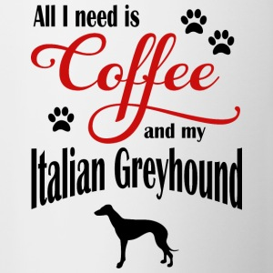 Italian Greyhound Coffee - Tasse zweifarbig