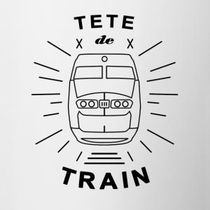 Tete_De_Train_Black_Aubstd - Tasse zweifarbig