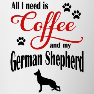 German Shepherd Coffee - Contrasting Mug