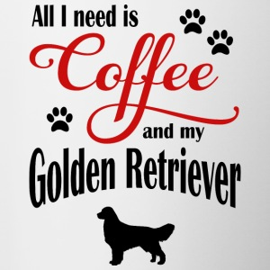 Golden Retriever Coffee - Tvåfärgad mugg