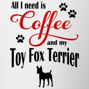 Toy Fox Terrier Coffee - Contrasting Mug