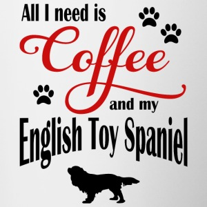 English Toy Spaniel Coffee - Contrasting Mug