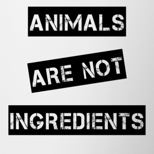 Animals are not ingredients - Contrasting Mug