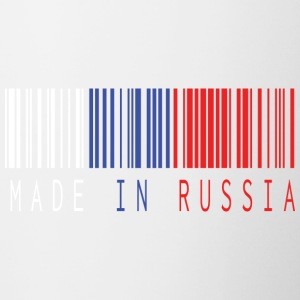MADE IN RUSSIA BARCODE - Kubek dwukolorowy