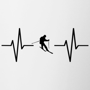 My heart beats for skiing! present - Contrasting Mug