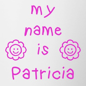 PATRICIA MY NAME IS - Tasse bicolore