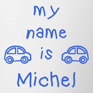 MICHEL MY NAME IS - Tasse bicolore
