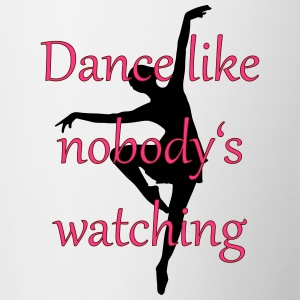 Dance is like nobody is is watching - Contrasting Mug