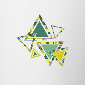 Abstract green triangles - Contrasting Mug
